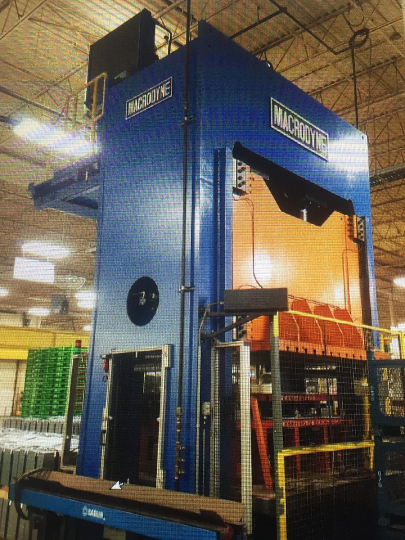 400 Ton Capacity Macrodyne Press For Sale