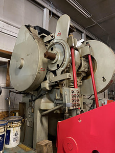 100 Ton Capacity L & J Backgeared OBI Press For Sale