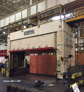 150 Ton Federal Hydraulic Spotting Press For Sale (Big Bolster) 1