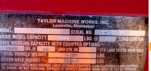 30,000lbs. Taylor Forklift 3