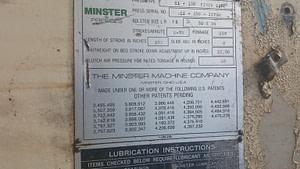 150 Minster Gap Frame Press For Sale