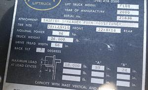18,000lb. Hoist T180 Forklift For Sale (2)