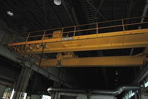 50 Ton P&H Overhead Bridge Crane For Sale