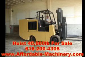 40,000lb Hoist Forklift - Solid Tired For Sale