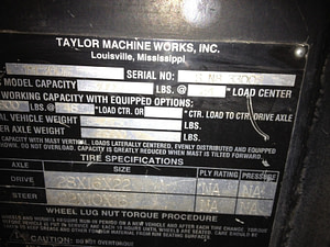 30,000lbs. Taylor T300 Forklift 1