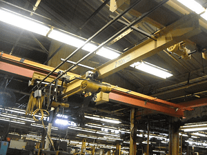 2 Ton Budgit Bridge Crane System (2 one ton hoists) w/uprights and runway