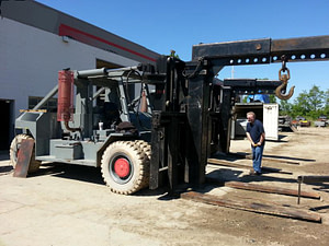 80,000lb Capacity Riggers Forklift (Taylor) For Sale - Two available.