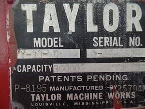 used Taylor 60000lb forklift for sale
