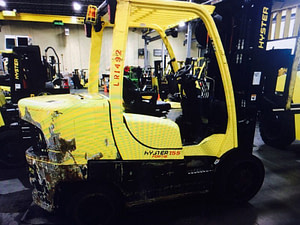 15,500lb. Capacity Hyster Forklift For Sale - Used 155 7.75 Ton