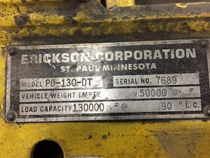 Erickson 130,000lb 65 Ton Die Handler For Sale