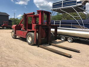 80,000 lb. Capacity Bristol Forklift - Low Base Weight - For Sale 40 Ton