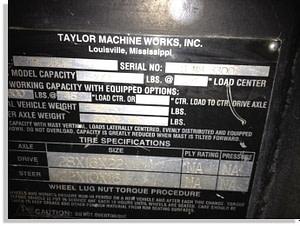 Taylor 30000lb forklift fork truck pic 8