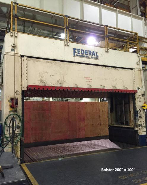 150 Ton Federal Hydraulic Spotting Press For Sale