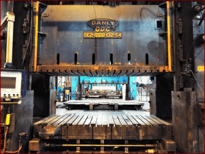 1000 Ton Danly Straight Side Press For Sale