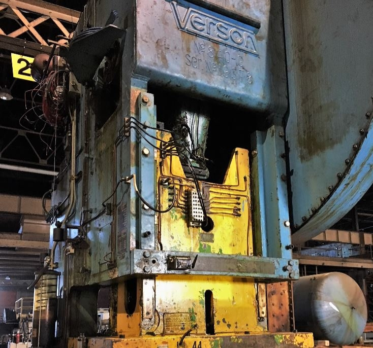 250 Ton Capacity Verson Single-Point Gap-Frame Press For Sale