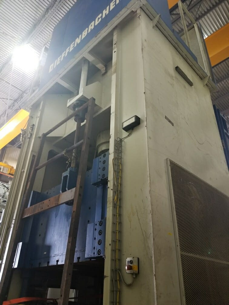 800 Ton Dieffienbacher Press For Sale Hydraulic