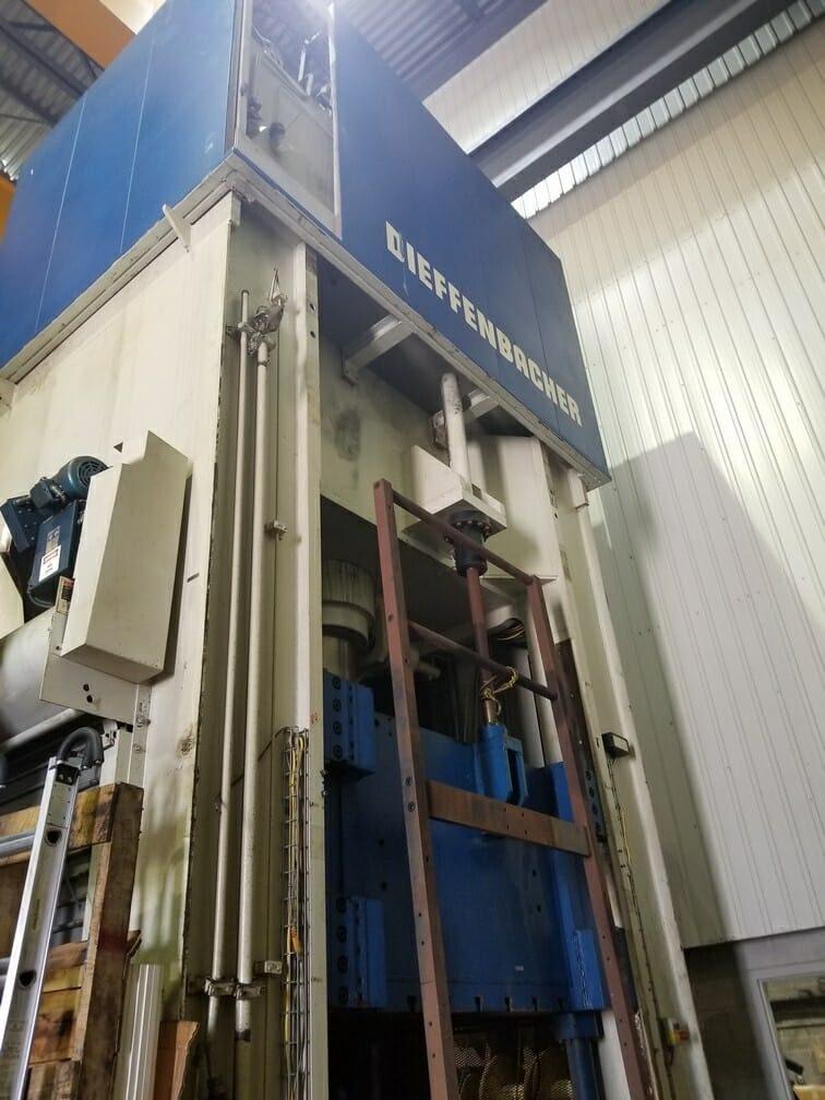 800 Ton Dieffienbacher Press For Sale Hydraulic
